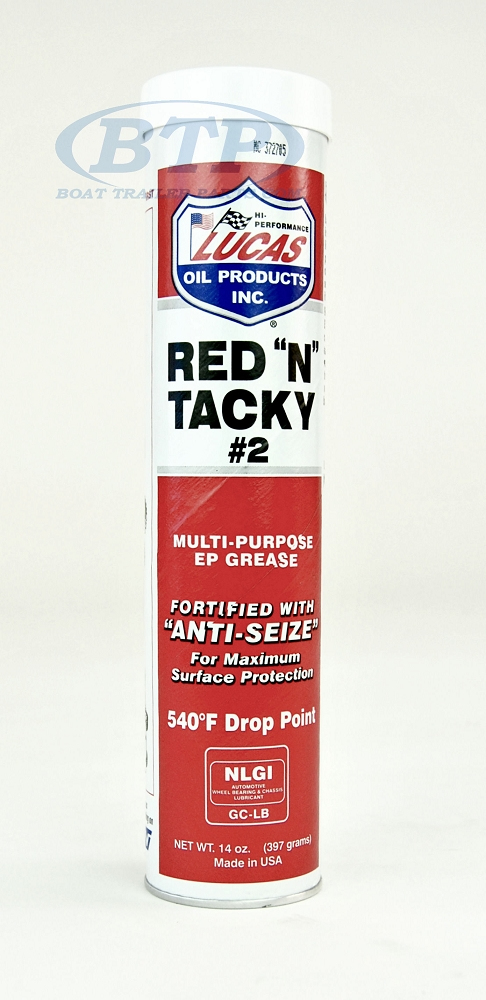 lucas red n tacky trailer wheel bearing grease tube for